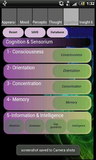 برنامج الفحص النفسي Mental Status Examination DS