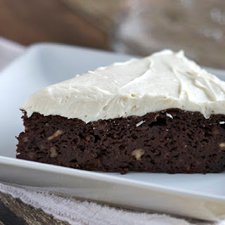 Chocolate Beetroot Cake with Maple Cream Cheese Frosting.