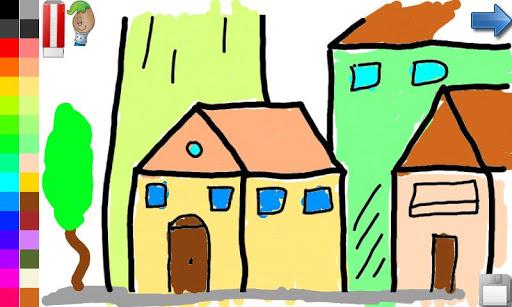 玩教育App|색칠 책 : 집 성 !免費|APP試玩