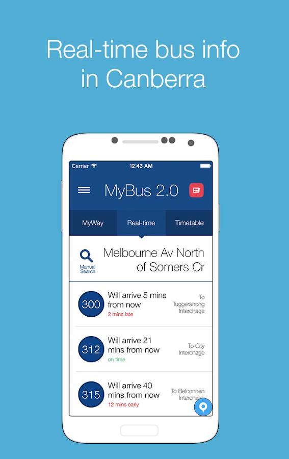 MyBus 2.0 Canberra - screenshot