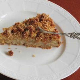 Spiced Quince Crumble Cake With Rose Scented Custard