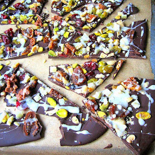 Chocolate Bark with the Works