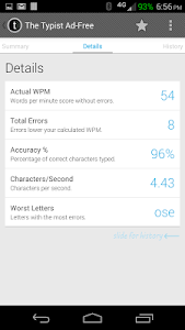 Typist: A Quick Typing Test ++ screenshot 7