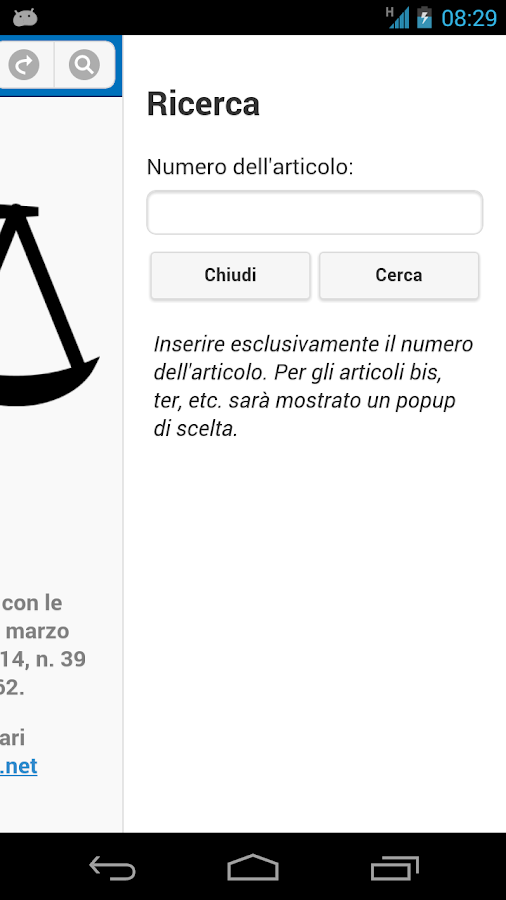 Codice Penale- screenshot