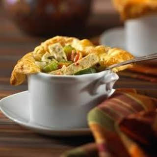 Individual Chik'n Pot Pies with Puff Pastry.