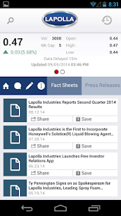 Lapolla Investor Relations - screenshot thumbnail