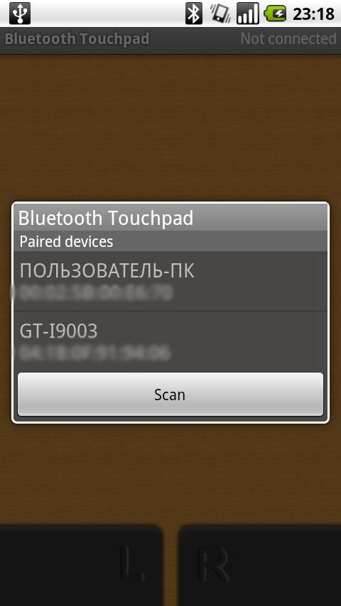 Bluetooth Touchpad - screenshot