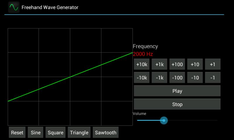 Freehand Wave Generator - screenshot