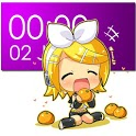 Chibi Rin Clock Widget (2x4) icon