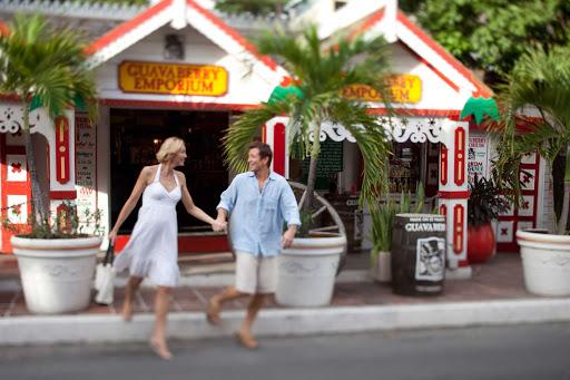 shop-front-Street-St-Maarten - Shopping on Front Street in Philipsburg, St. Maarten.