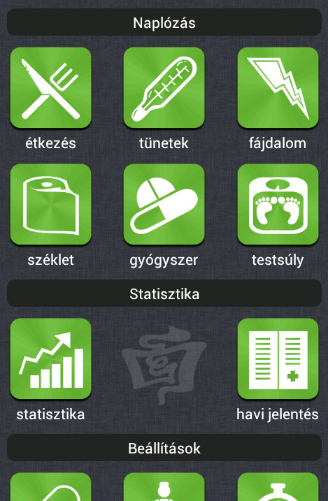 IBD Napló- screenshot