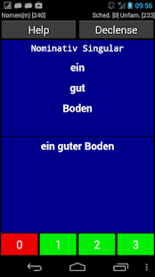German Declension Trainer - screenshot thumbnail