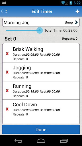 Interval Timer App for Android