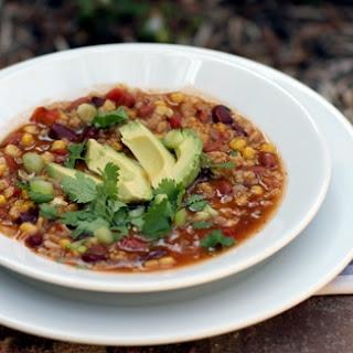 Vegetarian Taco Chili.