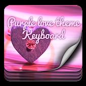 Purple Love Theme Keyboard