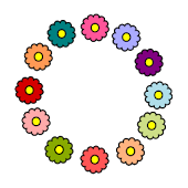 Little Flowers Clock Widget