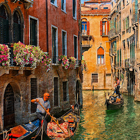 by Bente Agerup - Transportation Boats ( canals, gondola, boats, venice, italy )
