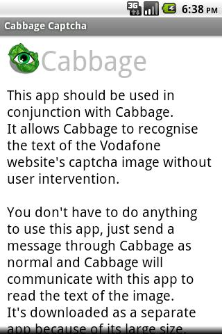 Cabbage Captcha - screenshot