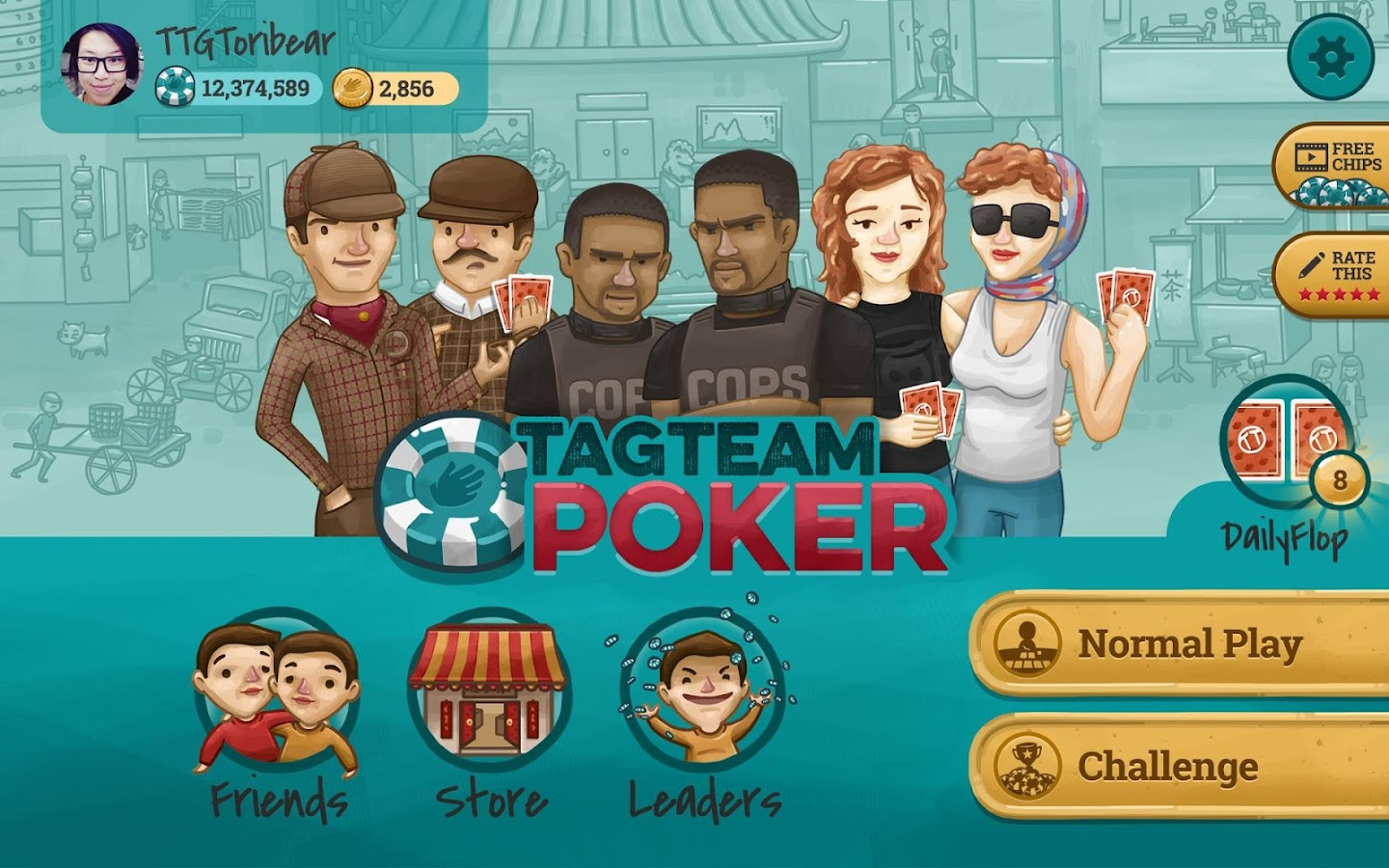 Tag Team Poker- screenshot