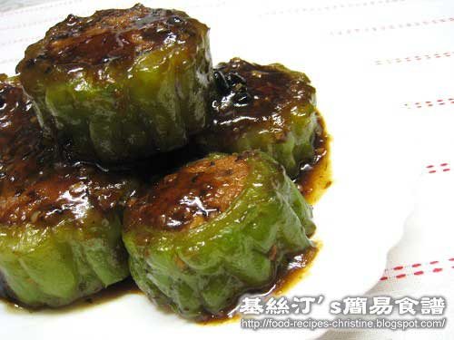 煎釀苦瓜Fried Bitter Melon with Minced Pork