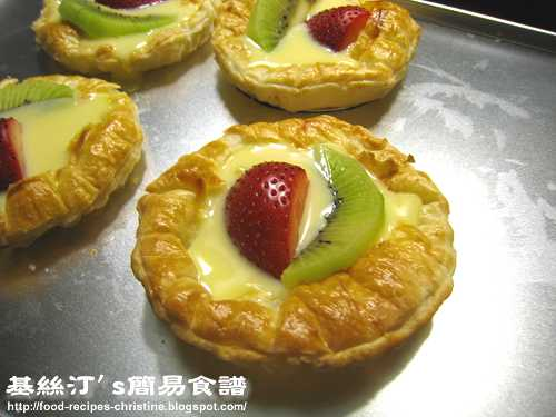 鮮果吉士撻Fruit Custard Tarts02
