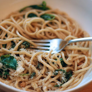Pasta with Brown Butter, Capers, Walnuts and Spinach
