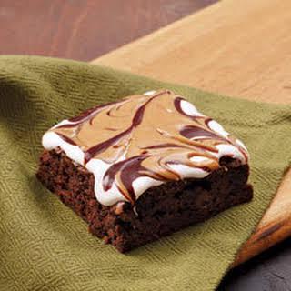 Gooey Peanut Butter S'more Brownies.