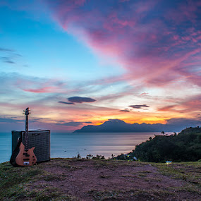 SUNSET WITH MUSIC by Dhanu Wijaya - Landscapes Mountains & Hills