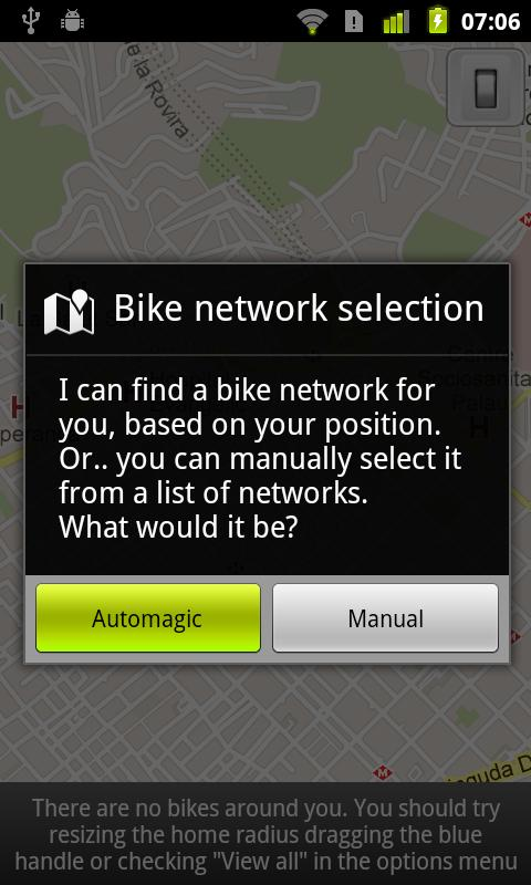 CityBikes Donación: captura de pantalla