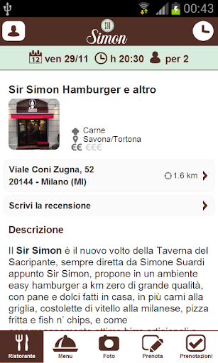 【免費生活App】Sir Simon Hamburger e altro-APP點子