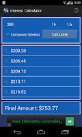Screenshot of Interest Calculator