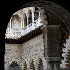Los Reales Alcazares by Pavel Laberko - Buildings & Architecture Public & Historical ( arch, plaster, mudejar, alcazar, palace,  )