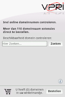 Screenshot of Domein Check