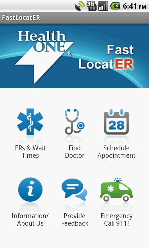 HealthONE Fast LocatER- screenshot