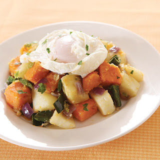 Root Vegetable Hash with Poached Egg.