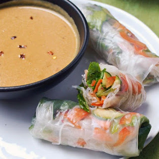 How To Make Vegetable Summer Rolls with Spicy Peanut Sauce.