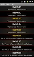 Screenshot of Hadith Collection