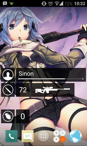 GGO SAO Widgets for Zooper