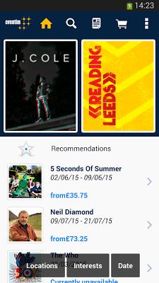 Eventim UK - screenshot