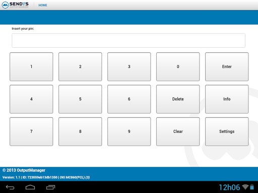Sendys Output Manager Touch