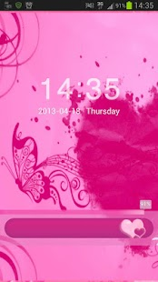 Locker Theme Pink Heart- screenshot thumbnail