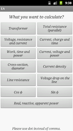 EA free Current voltage power