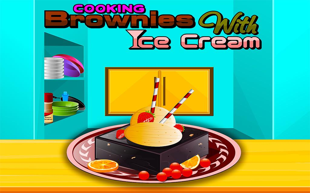 Cooking Brownies with IceCream- screenshot