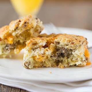 Sausage-Cheddar Biscuits.