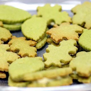 Green Tea Shortbread Sandwiches