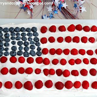 4th of July Flag Cake (Throwback Thursday).