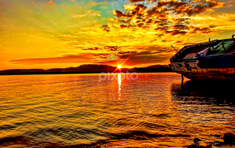 Perikanan sunset 2 by Azay Boyan - Landscapes Sunsets & Sunrises