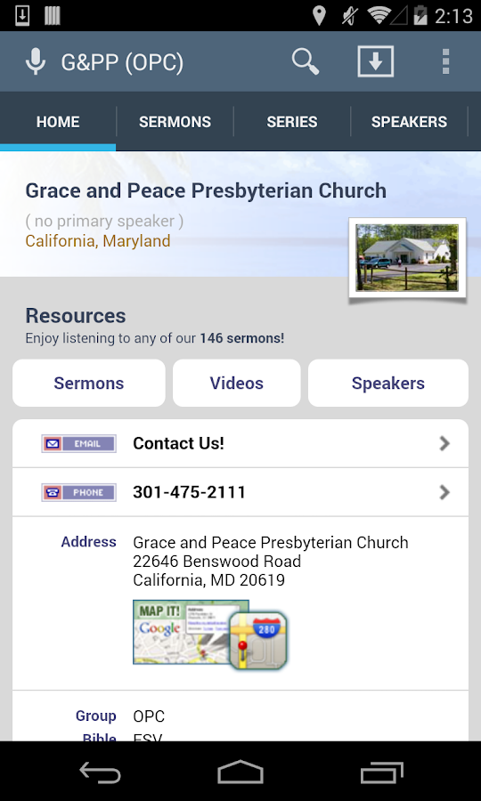 Grace and Peace Presbyterian - screenshot