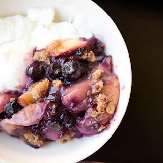 Peach Blueberry Crisp