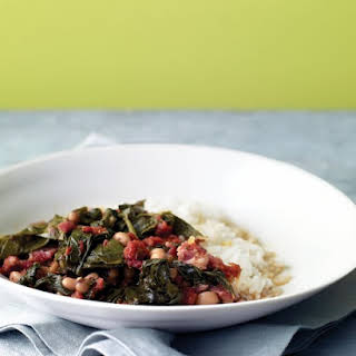 Braised Collards with Tomatoes.